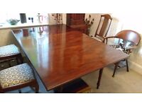 Antique Mahogany Drop leaf Dining Table.