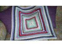 Crochet baby blanket made from all new acrylic mix materials