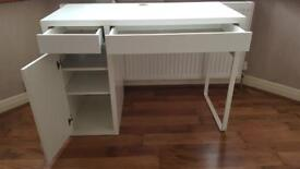 MICKE white gloss MDF wooden table IKEA (only £29.00 collection)