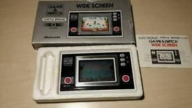 Vintage 1982 Nintendo game and watch Turtle Bridge TL-28 Single screen handheld. Boxed, working