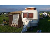 Eriba Pan classic vintage caravan 2 berth. 1978 and very original.