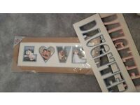 Collage Photo Frame 50 x 20cm Love / Daughter Brand New £3