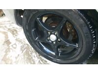alu wheel with tires
