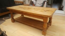Heavy Solid Pine Coffee Table
