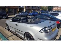 SAAB AERO CONVERTIBLE 9-3 2.0. AUTOMATIC, METALIC GREY: £2750 (PRICE IS OPEN TO NEGOTIATION)