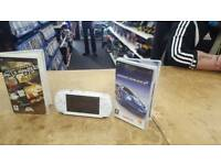 Sony psp console + 2 games