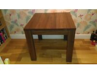 Lovely walnut effect dining table