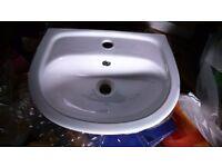 Homebase 'St Tropez' cloakroom sink approx 45 x 35 cm