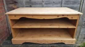 Wood Television stand or alternative use suitable to be painted alternative colour.