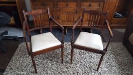 Two Dining Room Chairs with Cushion seats