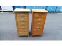TWO Solid Oak Tallboy chest /Top Quality 100% oak,Delivery