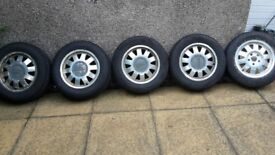 5 alloys with winter tyres