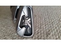 Callaway X22 Tour irons with Project X rifle flighted shafts
