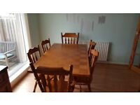 solid wood kitchen dining table and chairs