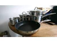 Stellar saucepans and frying pan