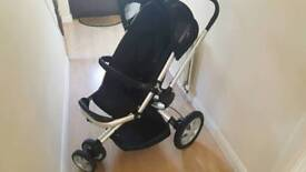Quinny Buzz Black Pushchair with Raincover
