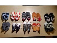 Various including 3 Clarks Boys Infant Baby Shoes 12-18mo, UK 3 - UK 5