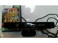 Xbox 360 sensor and Kinect Adventures game