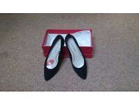 Marco Tozzo Size 3 Women's black fabric flats - Boxed