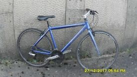 CARRERA GRYPHON 24sp HYBRID/RACING BIKE 19in ALLOY FRAME EVERYTHING WORKING