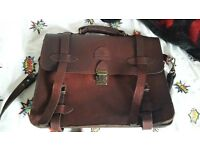 Groundcover vintage leather satchel unwanted gift