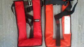 2 x Parmaris Life Jacket QF 150/Raider 150N Auto (1 red and 1 orange)