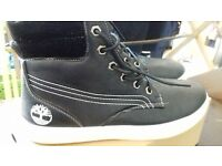 Black White Timberland Boots