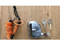 TRIK-MOTO ALARM MOTORCYCLE DISC LOCK + TRIK MOTO FORGET ME NOT DISC LOCK CABLE