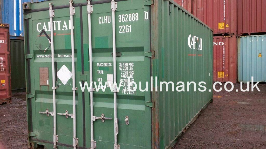 20ft shipping containers - CSC plated, steel container, storage container, site container for sale