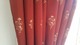 heavy weight lined curtains with matching box pelmet