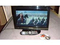 "ALBA 16"" HD READY LED TV BUILTIN FREEVIEW & DVD"