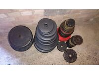 "240 kg std 1"" hole weight plates"