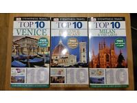 Top 10 Travel books (set of 3) - Venice; Florence; Milan - New