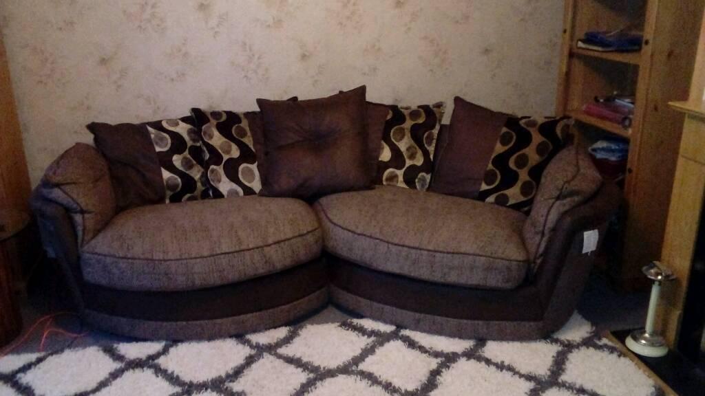 Admirable Dfs Cuddle Curved Sofa In Kirkcaldy Fife Gumtree Machost Co Dining Chair Design Ideas Machostcouk