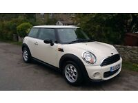2012 Mini One Hatch 1.6 3D FSH by BMW Mini and MOT to end July 2018. Comes with Mini tlc XL cover