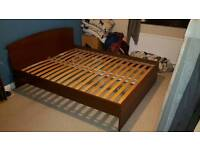 Ikea Sultan lien king size bed no mattress