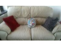 3+2+1 cream sofas for sale one recliner chair