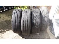 4 x Vivaro / Nissan / Renault Van steel wheels & tyres