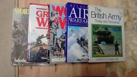 Military bundle of 5 hardback books. really interesting large books