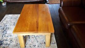 Solid hardwood coffee table