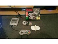 Snes Classic Mini with 16gb USB host and some rare games!! (Wrestlefest, Simpsons etc)