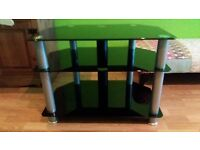 Glass tv corner unit / stand 6 months old