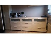 3x Chest of 3 drawers +Wardrobe+Desk and chair