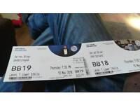 Two Derren brown tickets for tonight