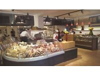 Italian Sales Assistants, Baristas, and Deli Assistant required