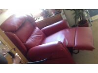 beautiful soft red leather recliner