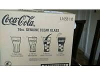 Coca cola clear glass