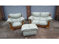 Really nice 3 piece sofa suite. genuine leather.originally from DFS. good condition.can deliver