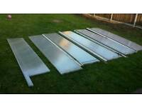 Plastic roof . Came of a big conservatory .