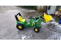John deer ride on tractor plus accessories